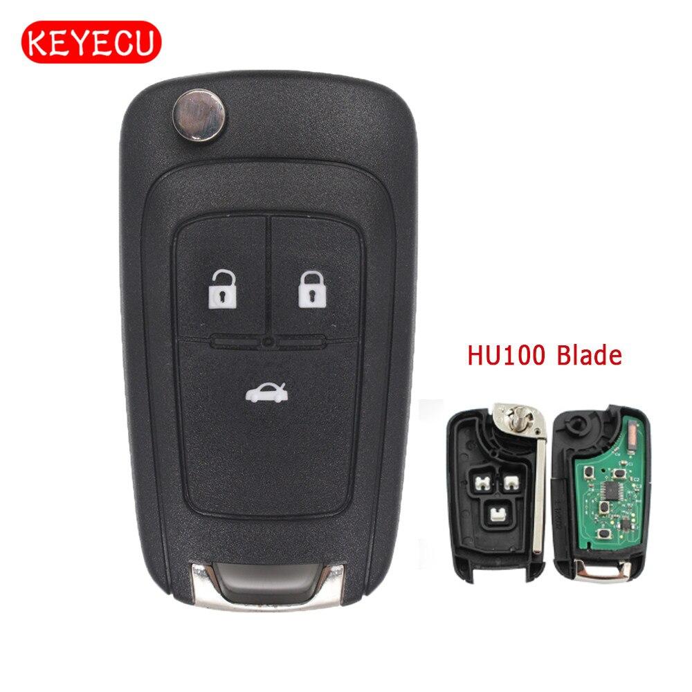 Keyecu выполните Flip Rmote брелок 3 Кнопка 315 мГц/433 мГц ID46 чип для Holden Cruze 2099- 2011