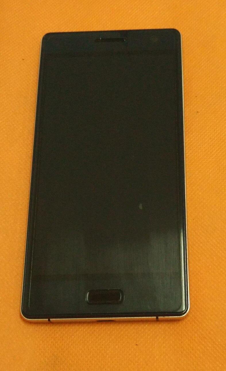 Verwendet Original LCD Display + Digitizer Touch Screen Glas + Rahmen für BLUBOO Xtouch X500 5,0
