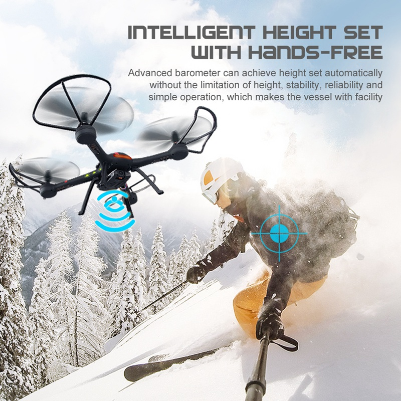 WiFi RC Drone H11WH With 2MP Camera wifi Fpv Drone altitude Hold Mode 3D Flip One Key Land RC Quadcopter Helicopter rc toys gift 2016 newest 2 4g 4ch 6 axis gyro wifi fpv camera rtf rc quadcopter with one key return cf mode 3d flip high hold mode rc drone