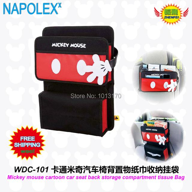 Assento de carro acessórios carro Mickey mouse dos desenhos animados de compartimento de armazenamento de WDC-101
