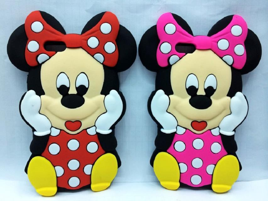 Lovely Cute 3D Cartoon Red & Pink Mickey Minnie Mouse Case for iPhone 6 5 6S 5S SE