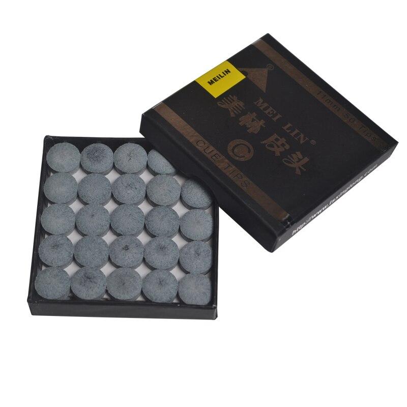 50PCS/SET Billiard Snooker Cue Tip 10.5mm 11mm 12.5mm 14mm one layer Meilin C Grade 50PC ...