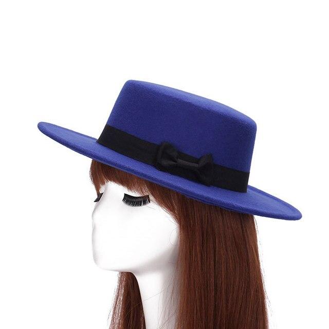 a65e54b706a 2017 Vogue Women Men trendy Jazz Panama caps floppy Wide Brim Wool Felt  Bowler Fedoras Hat Fall Winter Warm Chapeu flat sun Hats