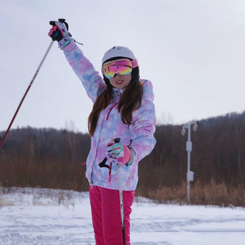 Nouvelle veste et pantalon de Ski pour femmes d'hiver imperméable à l'eau Super chaud convient aux marques de vêtements de Ski et de Snowboard pour femmes