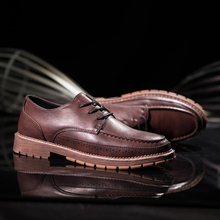 Men Spring Sneakers Cow Split Leather Casual Shoes For Men Anti-Slip Men Shoes Luxury Brand Male Casual Walking Sneaker