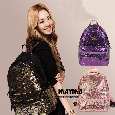 2017 New Womens Backpacks Sequins Teenager Girls Bags Bling lady Rucksacks Students Travel Books Laptop Bags