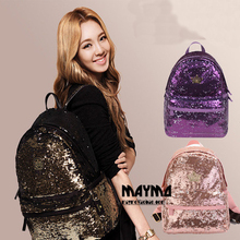 2017 New Womens Backpacks Sequins Teenager Girls Bags Bling lady Rucksacks Students Travel Books Laptop Bags Solid Black Bolsas