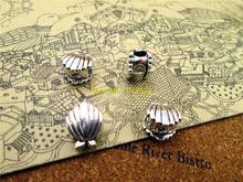 12 шт.-9,8*8,1 мм античное серебро 3D Мини ракушки Подвески Бусины DIY Подвески
