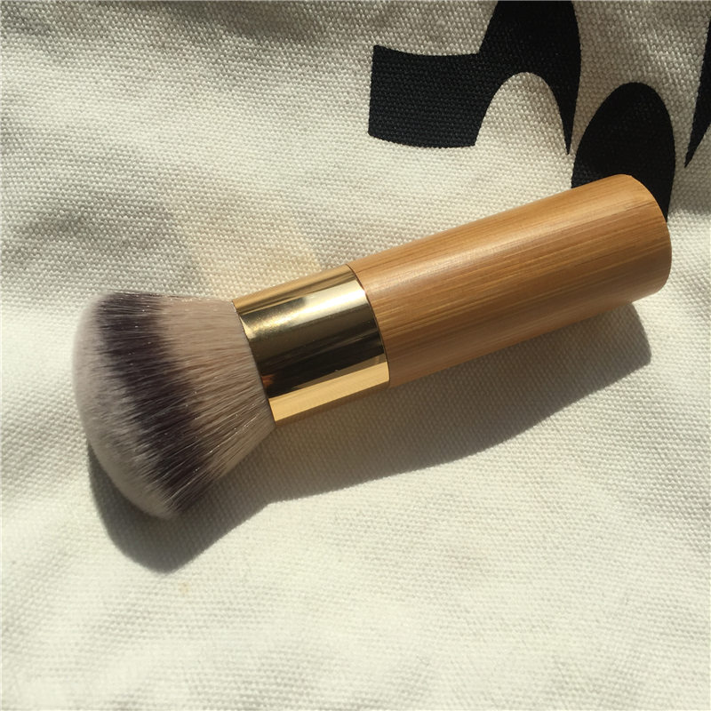 The buffer airbrush finish bamboo foundation brush - Dense Soft Synthetic Hair - Beauty Makeup Blender Applicator(China)