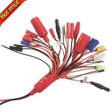 Высокое качество 19-в-1 Lipo Батарея Зарядное устройство адаптер кабель-переходник типа «банан» 4 мм plugtrx деканов EC3 XT60 EC3 EC5