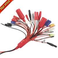 Haute qualité 19-en-1 Lipo chargeur de batterie adaptateur convertir câble 4mm banane PlugTRX DEANS EC3 XT60 EC3 EC5