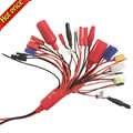 Wysokiej jakości 19-in-1 bateria lipo przejściówka do ładowarki kabel konwertujący 4mm wtyk bananowy PlugTRX dziekanów EC3 XT60 EC3 EC5