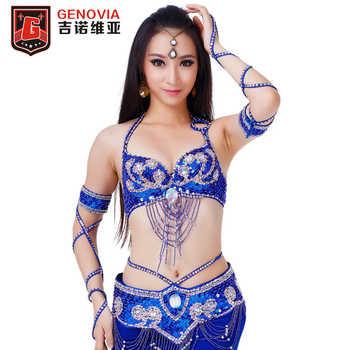 Women Belly Dance Top Bra & Bellydance Belt Oriental Costume Suit Brilliant Bra 34/75C Beaded Belly Dance Belt 2 Pieces Suit - DISCOUNT ITEM  21% OFF All Category