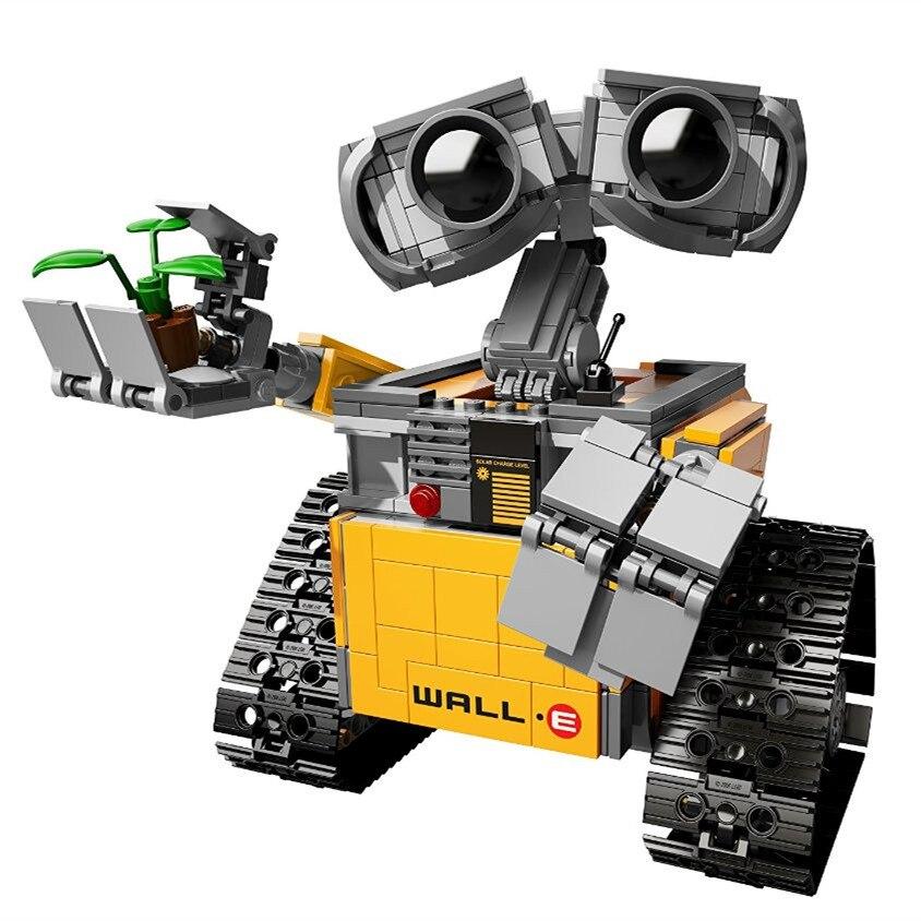 LEPIN 16003 Idea WALL E Robot Model Building Blocks Kits Bricks Children figures Toys Compatible With Legoing lepin movie pirate ship metal beard s sea cow model building blocks kits bricks figures toys compatible legoing
