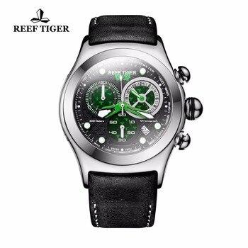 2021  New Reef Tiger/RT Mens Military Watches Men's Skeleton 316L Steel Quartz Watches RGA782 1