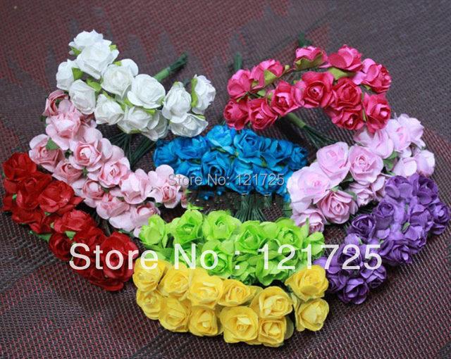 Online Shop Paper Flowers 2016 Christmas candy wedding box Mini Rose ...