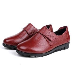 Image 3 - GKTINOO ผู้หญิงแบนรองเท้ารองเท้าลูกไม้ขึ้นรอบ Toe หนังแท้หนังสั้น Plush ฤดูหนาวรองเท้าสบายๆผู้หญิงรองเท้า Loafers Plus ขนาด 43