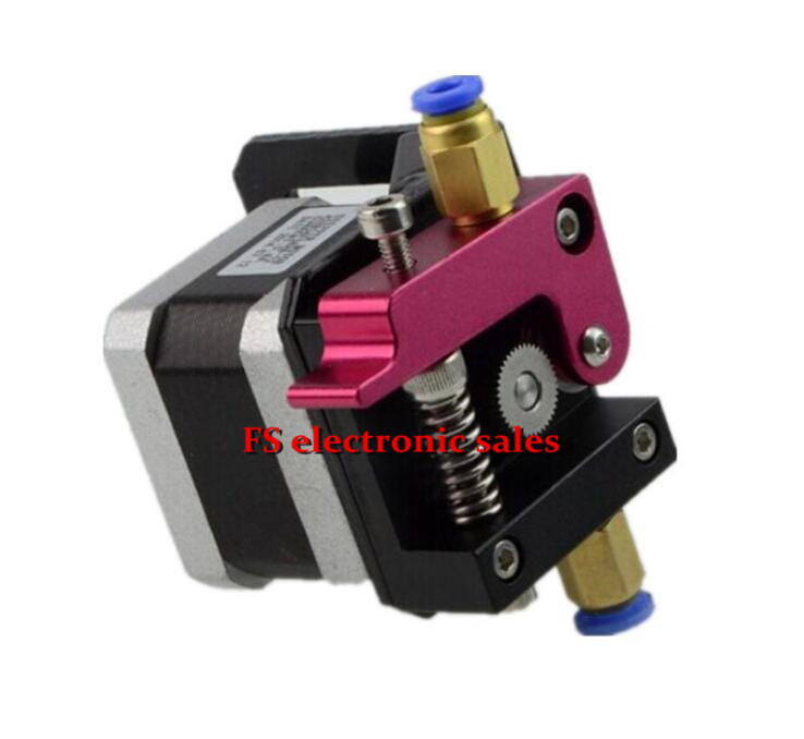 ФОТО Improved Version 3D Printer Parts Makerbot MK8 Full Metal Aluminum Alloy Bowden Extruder with Motor for 1.75MM Filament