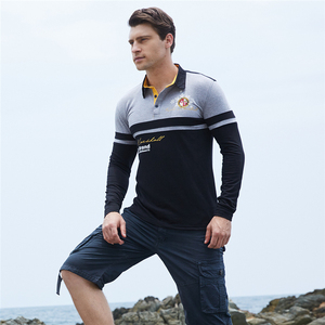 Image 3 - ZOGAA Mens Polo Shirt High Quality Cotton Long Sleeve Polo Shirt Spring Autumn Male Patchwork Lapel Polo Shirt Plus Size S 3XL