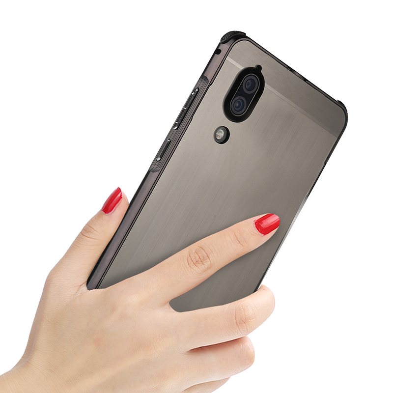 2 in 1 Case For Sharp Aquos S2 Cover Plating Aluminum Metal Bumper+Brushed PC Back Hard Cover For SHARP AQUOS S2 5.5 inch Coque iPhone XS