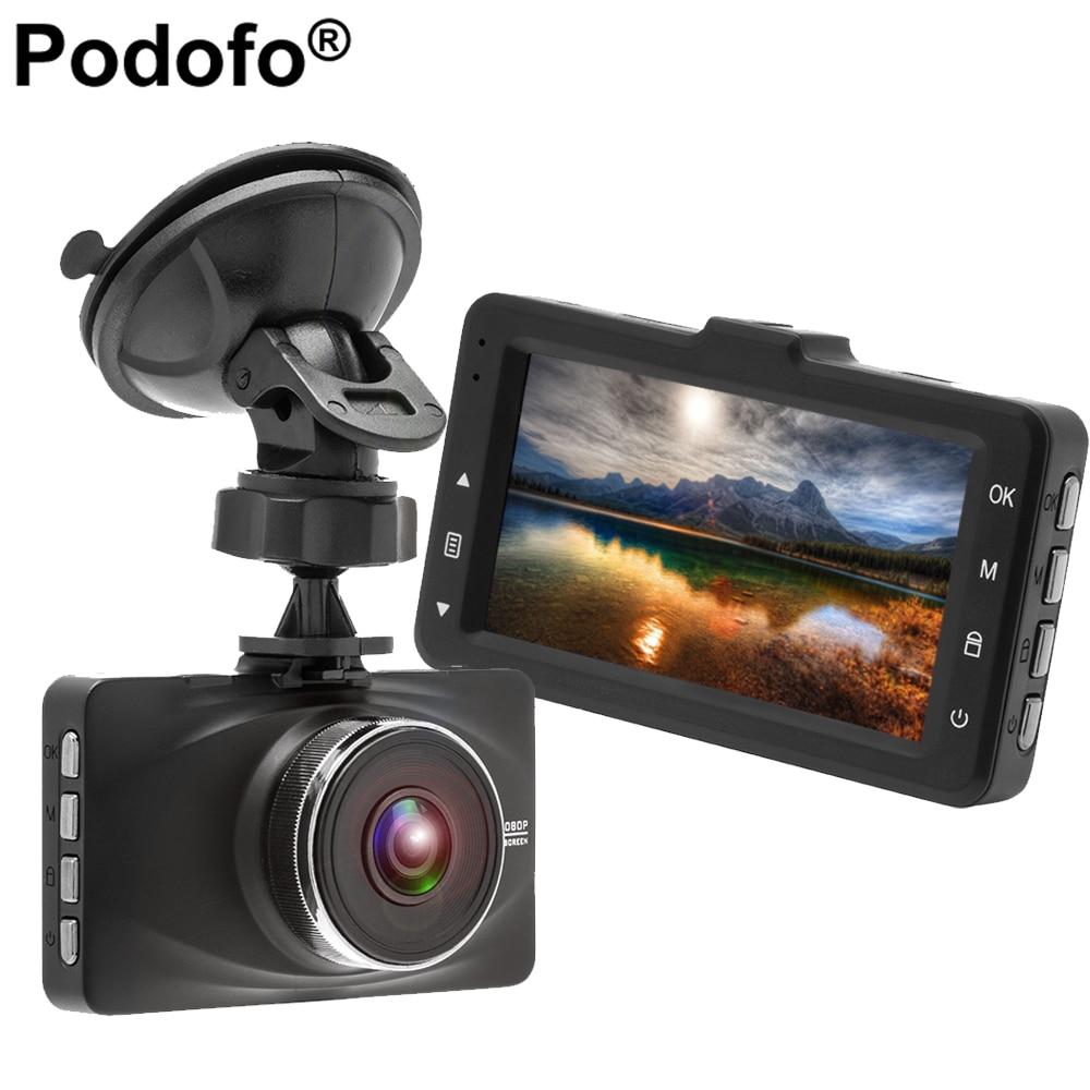Podofo 3 voiture DVR Caméra Dash Caméra Novatek 96655 Full HD 1080 P Enregistreur Vidéo de Vision Nocturne Dashcam Enregistrement En Boucle Greffier