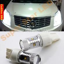 Парный светодиодный габаритный фонарь, дневные ходовые огни DRL T20 7443 W21/5 W для Cadillac SRX