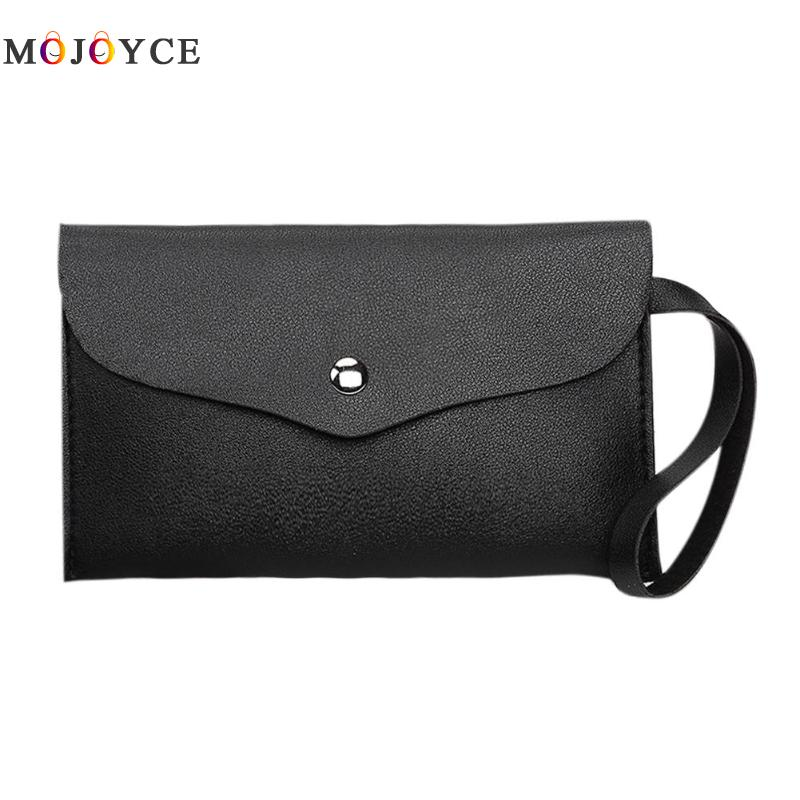 Simple Women Small PU Leather Flap Bag Long Wallet Envelope Day Clutch Handbag carteras y bolsos de mujer chantecaille galactic lip shine aurora цвет aurora