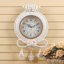 LISHENG bowknot Wall Clock living room modern mute Watch European style creative Retro Clocks