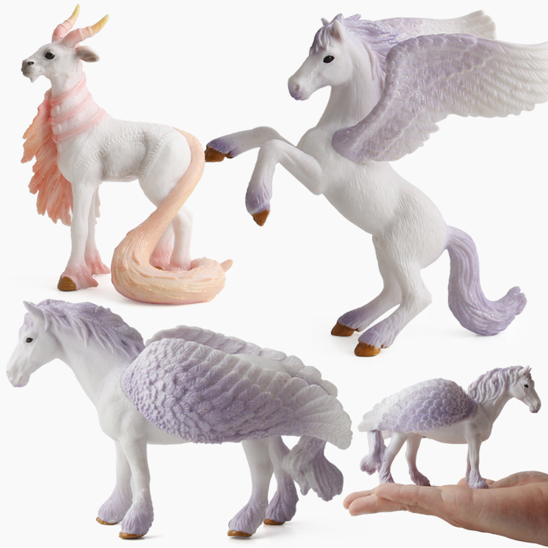 4 Colors Action&Toy Figures Unicorn Legend Pegasus Elf Goat Toys Plastic Doll Animal Collectible Model Furnishing Toy Gift F4 lps pet shop toys rare black little cat blue eyes animal models patrulla canina action figures kids toys gift cat free shipping