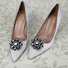 Serie clásica de zapatos elegantes con forma de hoja hebilla zapatos accesorios Aleación de alta calidad