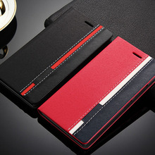 Red Black Double Color Leather Flip Cover Telephone Cases For Lenovo P70 P70T P70-A P 70 Mobile Phone Stand Card Holder hy307