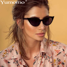 Yumomo Cat Eye Sunglasses Women 2019 New Fashion Luxury Brand Designer Personlity Leaf Shape Red Black Mirror Feminino Glasses chic rhinestone and leaf shape embellished black and red sunglasses for women