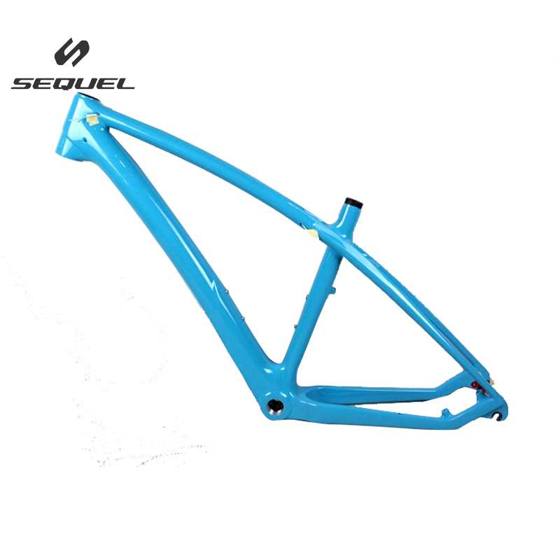 Blue color carbon MTB frame 650B BSA/BB30 bicycle part T800 MTB bike frame UD 135*9mm quick release model carbon fame  factory high quality carbon montain bike 29er 27er mtb bike china bike frame bsa bb30 ud t800 carbon cycling