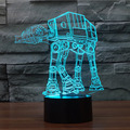 Lamparas 3D LED Lamp Star Wars Led Night Light Mood Lamp for Holiday Table Lamps 3D Bulbing Light USB Table Atmosphere Lamp