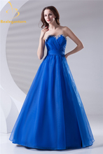 Bealegantom Sexy Royal Blue Appliques A-Line Quinceanera Dresses 2017 With Organza Sweet 16 Dresses Vestido Debutante Gowns BQ07
