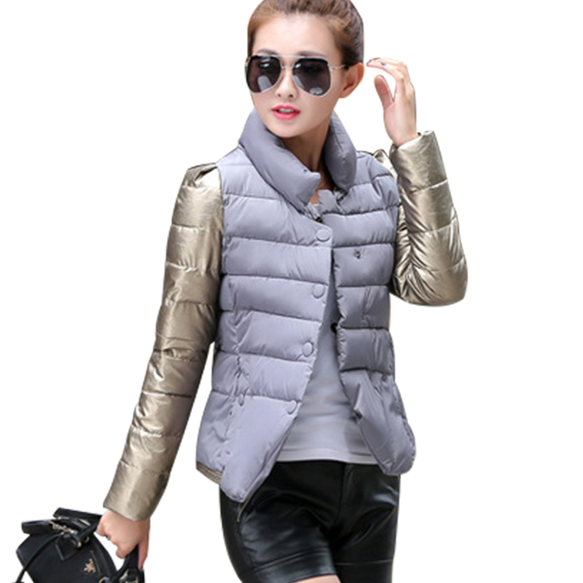 Womens Winter Jackets And Coats 2016 Single Breasted Down Cotton Padded Parkas For Women's Winter Jacket Female Manteau Femme
