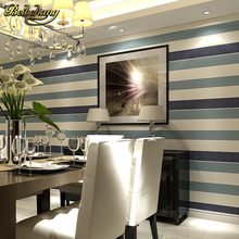 beibehang wall paper 3d wallpaper papel de parede para quarto horizontal vertical stripes non-woven bedroom wallpaper