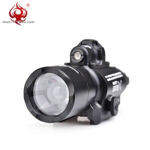 Image 3 - 밤 진화 전술 빛 X400U 매우 Softair 권총 손전등 Airsoftsports 빨간 레이저 사냥 램프 무기 총 빛