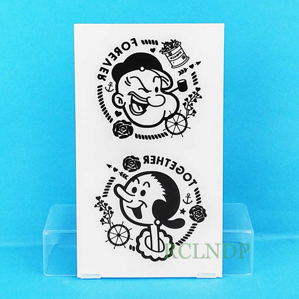 Tahan Air Sementara Tato Stiker Popeye Si Pelaut Animasi Anime Tatto Flash Tato Tato Palsu Untuk Anak Gadis Wanita Pria