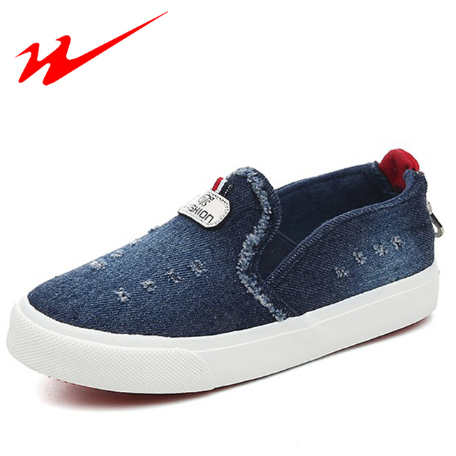 DOUBLE STAR Big Kid Shoes Soild Color Denim Children Shoe Hollow Outdoor Flat Walking Shoes For Little Boys And Girl Sneakers