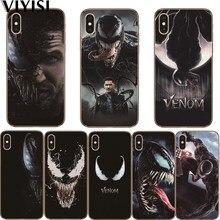 venom Marvel Fundas For Apple iPhone X Case IPhone 7 8 6 6S Plus 5 5S SE XS MAX XR Etui Coque Capas Soft Silicone case Cover