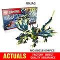 694 UNIDS LEPIN 06018 Marvel Action Figure Model Kits Ninja de Bloques de Construcción de Ladrillo Juguetes Mini bloques Ninjagoed Compatible Legoe