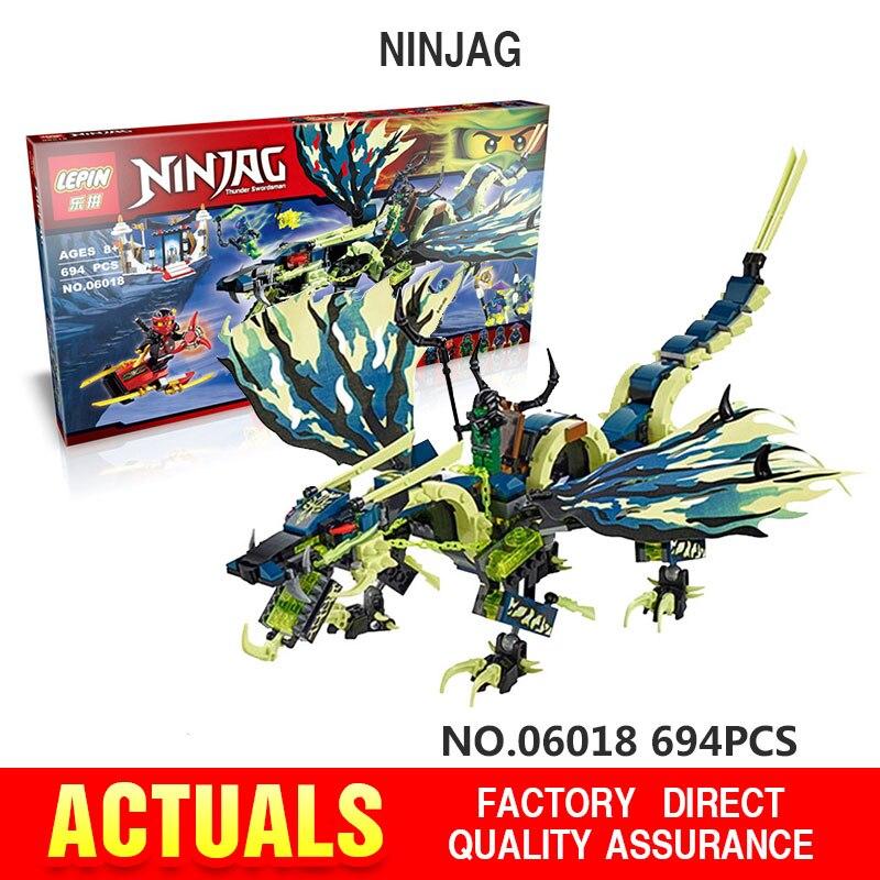 694PCS LEPIN 06018 Marvel Ninja Building Block Action Figure Model Kits Brick Toys Mini blocks Ninjagoed