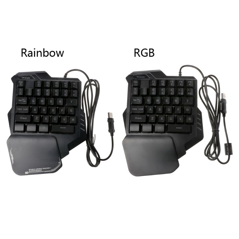 G30 Wired Keyboard 35 Keys Gaming Keypad LED Backlight One/Single Hand USB Wired Keyboards For PUGB LOL