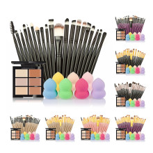 Super Deal 6-Color Concealer +20 Makeup Brush + Water Puff Puff Powder Puff Great Make Up Set Free Shipping