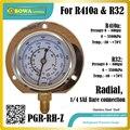 0 ~ 800psi радиальный манометр из нержавеющей стали для R410a и R32 поможет проверить супертепло и охладить в круге холодильника