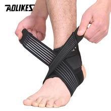 AOLIKES 1 Pair Elastic Strap Ankle Support Brace Badminton Basketball Football Taekwondo Fitness Heel Protector Gym Equipment