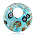 Vintange Murano Art Glass Big Pendant Fashion Jewelry Charms Round Necklaces&Pendants For Women Men