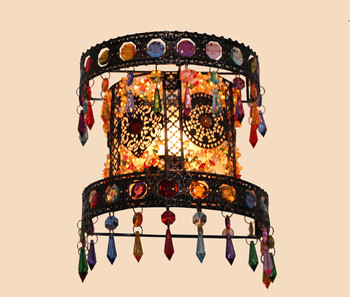 European Retro Wall Lamp Bedside Lamp Living Room Bedroom Wall Lamps Room Front Mirror Lamp Decoration Wall Light ZA428356