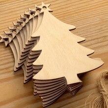 10 шт деревянные рождественские украшения DIY ремесленные игрушки подарки